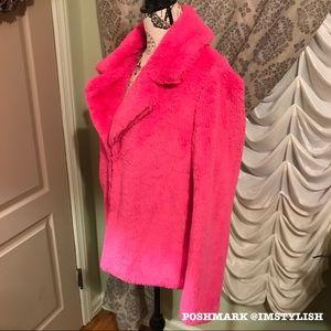 Fashion Nova Jackets & Coats - 🆕 Barbie Pink 'Marcee Faux Fur Jacket'